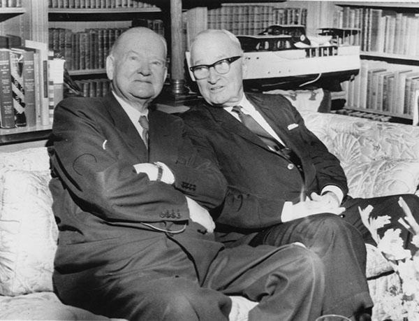 Herbert Hoover and Harry Truman