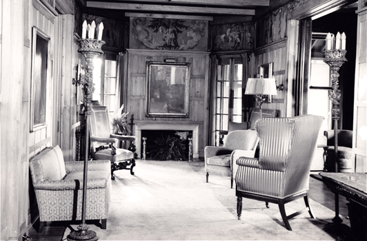 black and white great hall